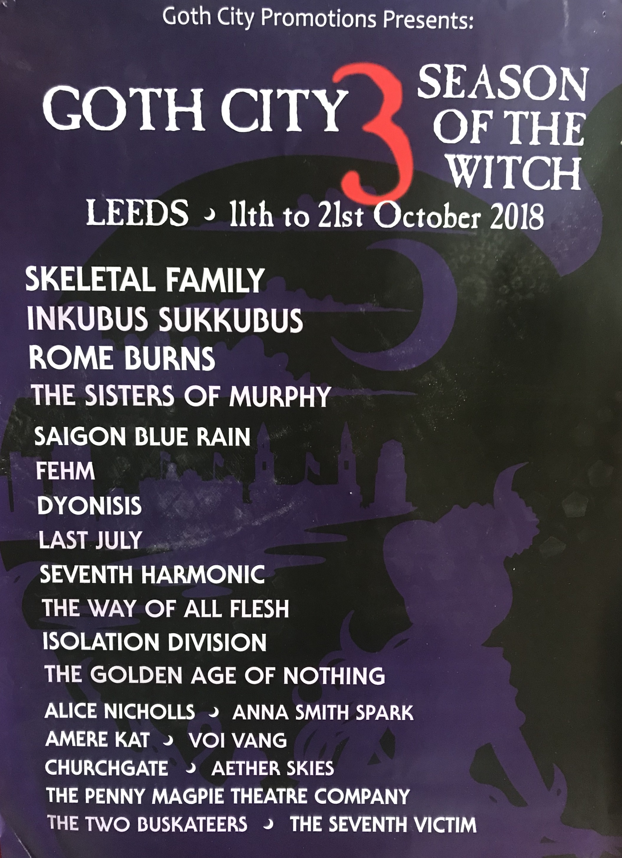 Goth City: Sisters of Murphy Live at The Fenton Leeds 00, Oct 13