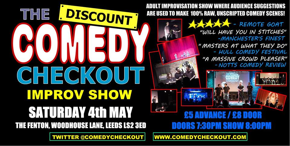 The Discount comedy checkout Live at The Fenton Leeds 00, May 4