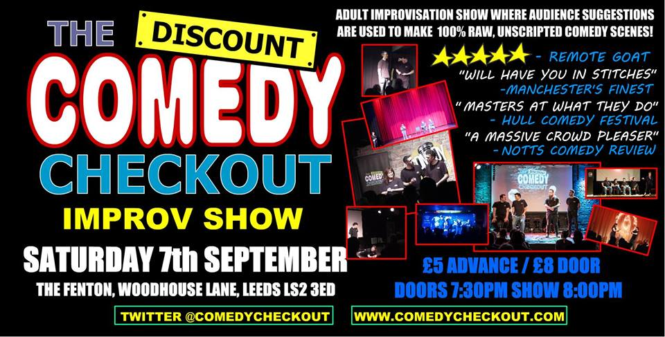 The Discount comedy checkout Live at The Fenton Leeds 00, Sep 7