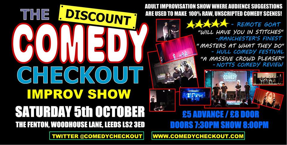 The Discount comedy checkout Live at The Fenton Leeds 00, Oct 5