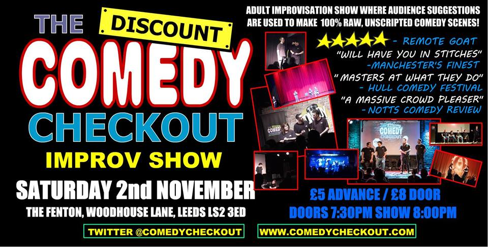 The Discount comedy checkout Live at The Fenton Leeds 00, Nov 2